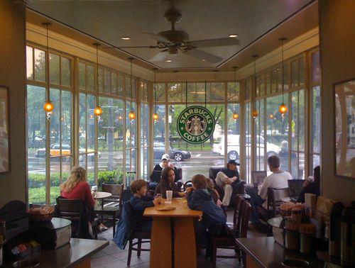 Interior of the Dupont Circle Starbucks